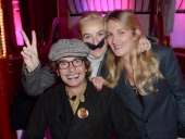 Martin Bruno his sister Vanessa Bruno and Veronique Philipponnat attend Le Fooding 2013 Culinary Awards at the Cirque d'Hiver on November 25 2013 in...