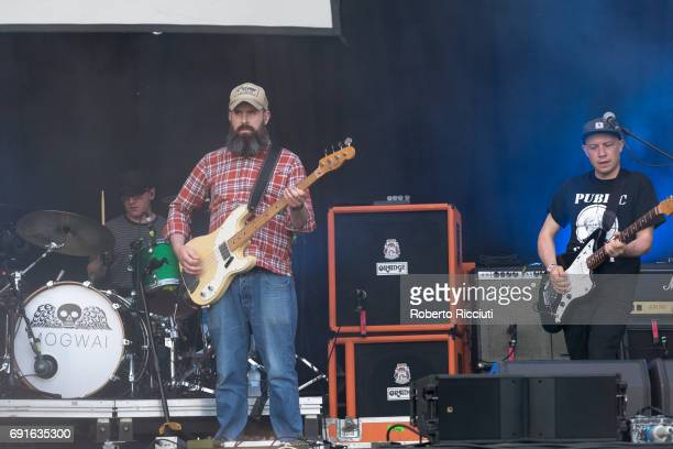 Martin Bulloch Barry Burns and Stuart Braithwaite of Mogwai perform an unexpected concert during Primavera Sound Festival 2017 Day 3 at Parc del...
