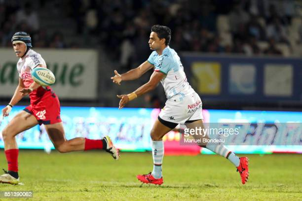 Martin Bustos Moyano of Bayonne during the French Pro D2 match between Aviron Bayonnais and Grenoble on September 21 2017 in Bayonne France