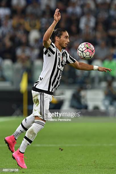 Martin Caceres of Juventus FC controls the ball during the Serie A match between Juventus FC and AC Chievo Verona at Juventus Arena on September 12...