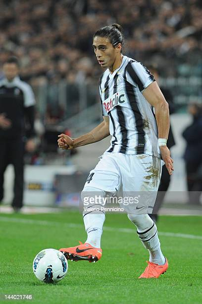 Martin Caceres of Juventus FC in action during the Serie A match between Juventus FC and US Lecce at Juventus Arena on May 2 2012 in Turin Italy