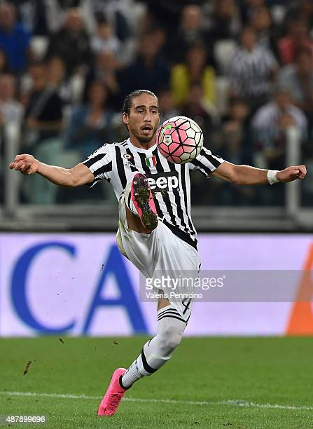 Martin Caceres of Juventus FC in action during the Serie A match between Juventus FC and AC Chievo Verona at Juventus Arena on September 12 2015 in...