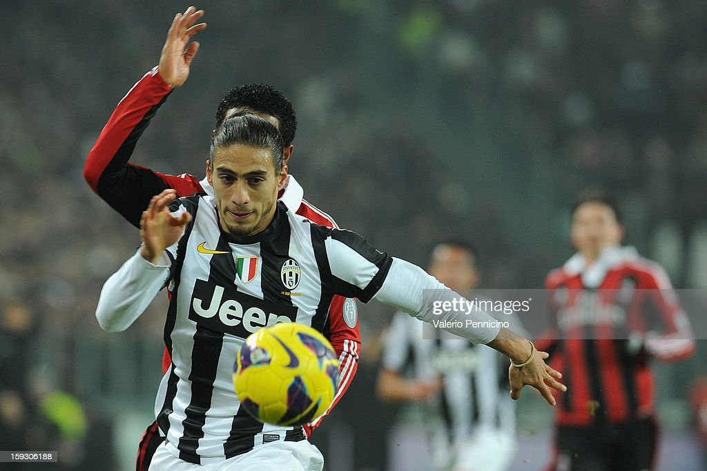 Martin Caceres of Juventus FC in action during the TIM cup match between Juventus FC and AC Milan at Juventus Arena on January 9, 2013 in Turin, Italy.