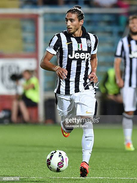 Martin Caceres of Juventus in action during the preseason friendly match between AC Cesena and Juventus FC at Dino Manuzzi Stadium on July 30 2014 in...