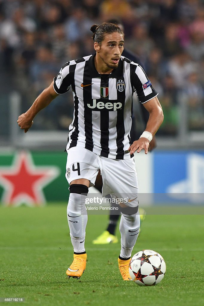 Martin Caceres of Juventus in action during the UEFA Champions League Group A match between Juventus and Malmo FF on September 16 2014 in Turin Italy