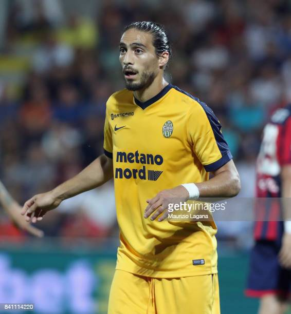 Martin Caceres of Verona during the Serie A match between FC Crotone and Hellas Verona FC at Stadio Comunale Ezio Scida on August 27 2017 in Crotone...