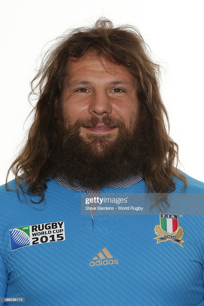 <a gi-track='captionPersonalityLinkClicked' href=/galleries/search?phrase=Martin+Castrogiovanni&family=editorial&specificpeople=802311 ng-click='$event.stopPropagation()'>Martin Castrogiovanni</a> of Italy poses during the Italy Rugby World Cup 2015 squad photo call at the Radisson Blu on September 15, 2015 in Guildford, England.