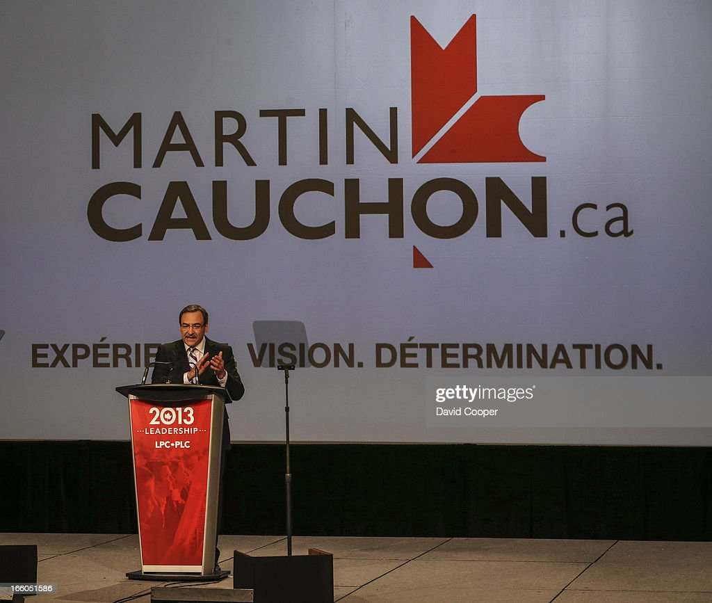 Martin Cauchon addresses the crowd at the federal Liberal showcase at the Metro Toronto Convention Centre.