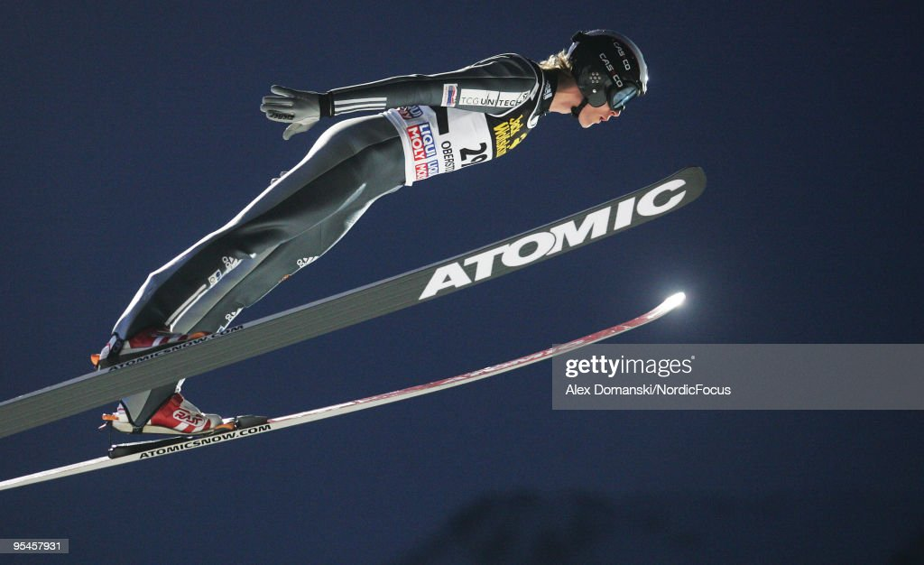 Martin Cikl of Czech Republic competes during the FIS Ski Jumping World Cup event at the 58th Four Hills Ski Jumping Tournament on December 28, 2009 in Oberstdorf, Germany.