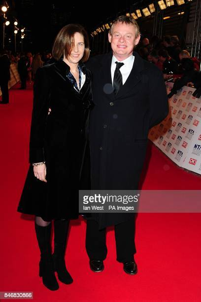 Martin Clunes and Philippa Braithwaite arriving for the 2012 NTA Awards at the O2 Greenwich London
