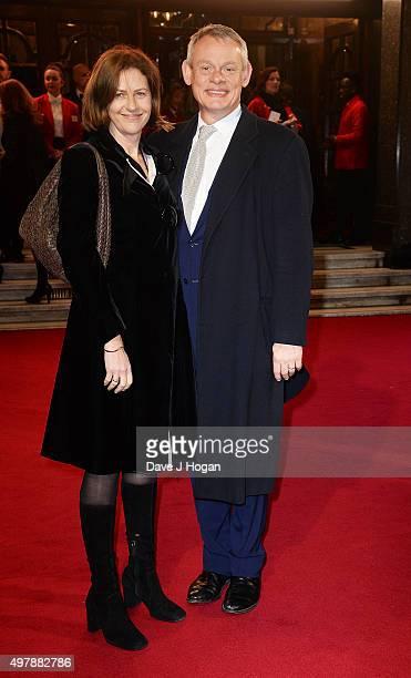 Martin Clunes and Philippa Braithwaite attend the ITV Gala at London Palladium on November 19 2015 in London England