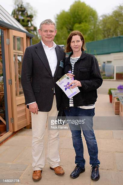 Martin Clunes and Philippa Braithwaite attend the press and VIP preview day for The Chelsea Flower Show at Royal Hospital Chelsea on May 21 2012 in...