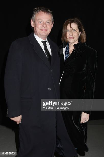 Martin Clunes and Phillippa Braithwaite arriving for the 2012 NTA Awards at the O2 Greenwich London