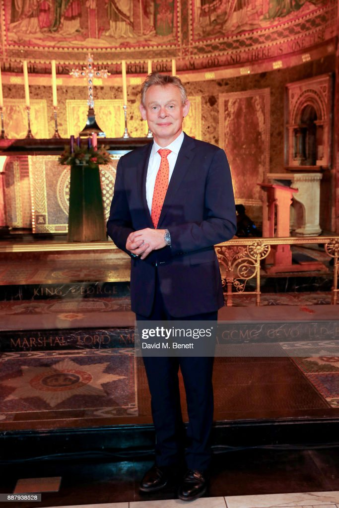 Martin Clunes attends Macmillan Cancer Support's Guards' Chapel Christmas Carol Concert at Wellington Barracks on December 7, 2017 in London, England.