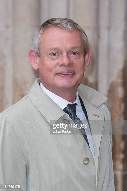 Martin Clunes attends the British Food Fortnight's harvest festival at Westminster Abbey on October 16 2013 in London England