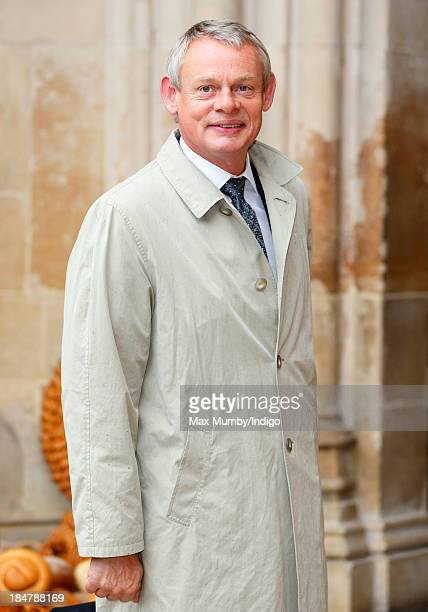 Martin Clunes attends The British Food Fortnight's Harvest Festival service at Westminster Abbey on October 16 2013 in London England