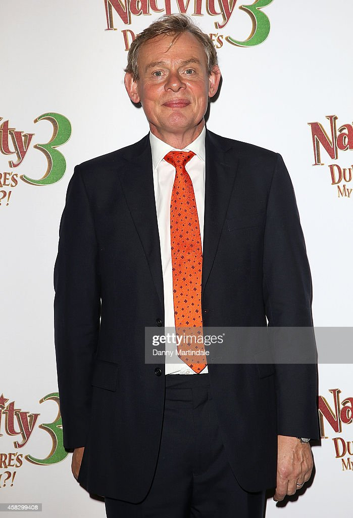 Martin Clunes attends the UK Premiere of 'Nativity 3: Dude Where's My Donkey?' at Vue West End on November 2, 2014 in London, England.