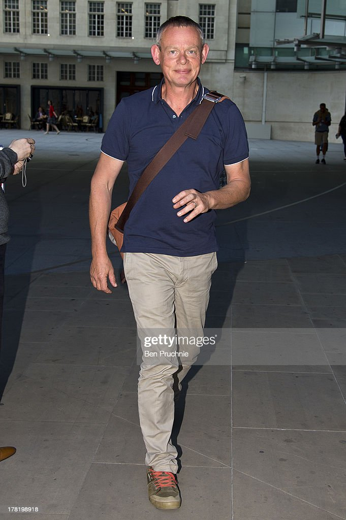 <a gi-track='captionPersonalityLinkClicked' href=/galleries/search?phrase=Martin+Clunes&family=editorial&specificpeople=2636753 ng-click='$event.stopPropagation()'>Martin Clunes</a> sighted at BBC Radio Studios on August 27, 2013 in London, England.