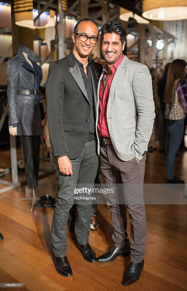 Martin Cooper and Asad Shan attend the after party of Belstaff s/s 2013 collection, as part of London Collections: MEN at 50 St James on June 16, 2012 in London, England.