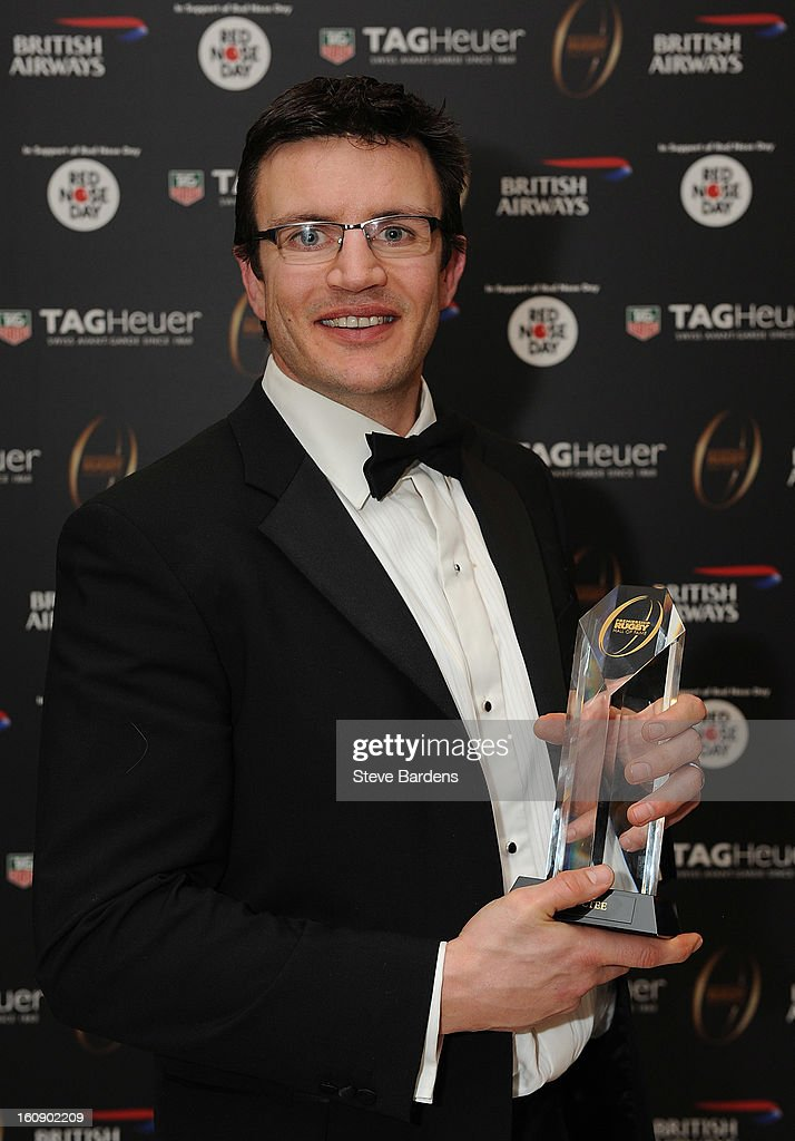 Martin Corry is inducted into the Hall of Fame during the inaugural Premiership Rugby Hall of Fame Ball at the Hurlingham Club on February 7, 2013 in London, England.