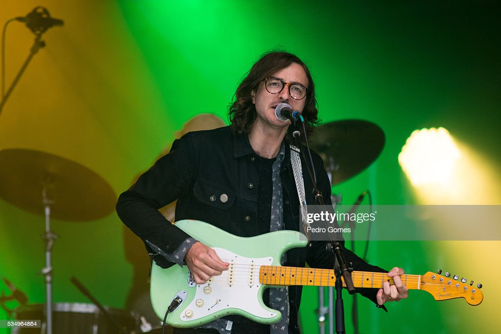 Martin Courtney of Real Estate performs on Vodafone stage at Rock in Rio on May 28, 2016 in Lisbon, Portugal.