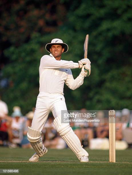 Martin Crowe batting for New Zealand during the match between Lavinia Duchess of Norfolk's XI and New Zealand at Arundel 6th May 1990 New Zealand won...