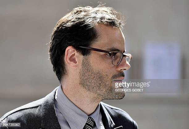 Martin d'Orgeval companion of French photographer FrancoisMarie Banier arrives at the Appeal court of Bordeaux southwestern France on August 24 2016...