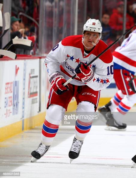 Martin Erat of the Washington Capitals skates against the New Jersey Devils at Prudential Center on January 24 2014 in Newark New Jersey