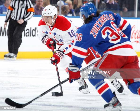 Martin Erat of the Washington Capitals skates against the New York Rangers at Madison Square Garden on January 19 2014 in New York City The New York...