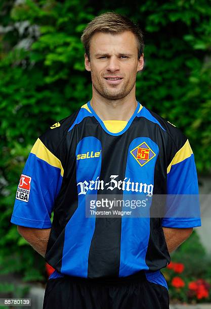 Martin Forkel poses during the TuS Koblenz team presentation on July 1 2009 in Bad Ems near Koblenz am Rhein Germany
