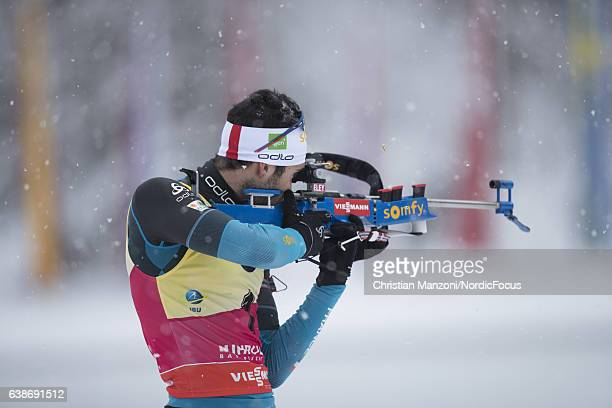 Martin Fourcade of France competes during the 125 km men's Pursuit on January 15 2017 in Ruhpolding Germany
