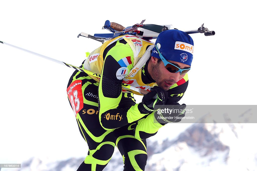 Martin Fourcade of France competes in the men's 10km sprint event during the IBU Biathlon World Cup on December 7, 2012 in Hochfilzen, Austria.