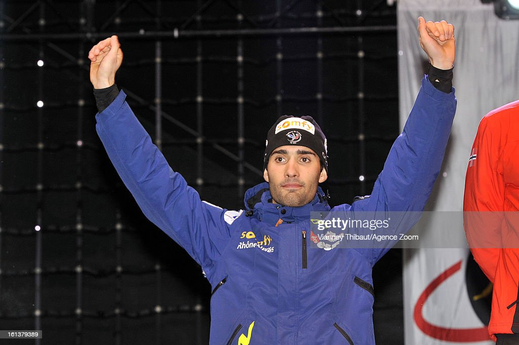 <a gi-track='captionPersonalityLinkClicked' href=/galleries/search?phrase=Martin+Fourcade&family=editorial&specificpeople=5656850 ng-click='$event.stopPropagation()'>Martin Fourcade</a> of France takes 2nd place during the IBU Biathlon World Championship Men's 12.5km Pursuit on February 10, 2013 in Nove Mesto, Czech Republic.
