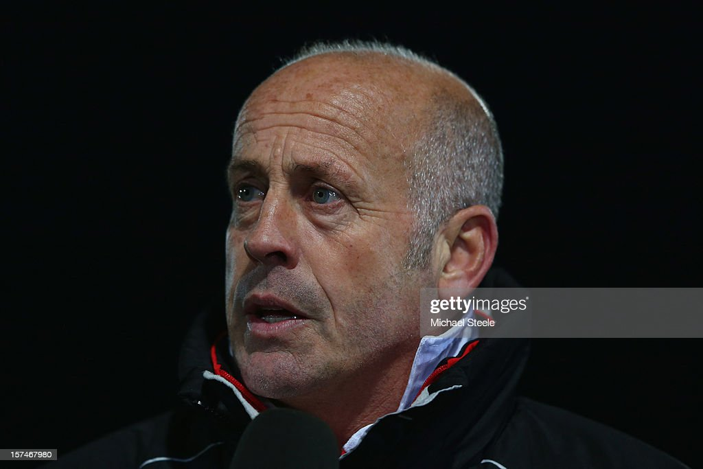 Martin Foyle manager of Hereford United during the FA Cup with Budweiser Second Round match between Cheltenham Town and Hereford United at the Abbey Business Stadium on December 3, 2012 in Cheltenham, England.