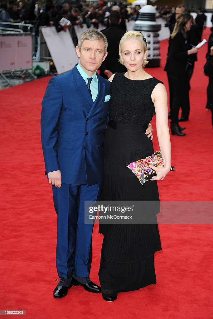 Martin Freeman & Amanda Abbington attends the Arqiva British Academy Television Awards 2013 at the Royal Festival Hall on May 12, 2013 in London, England.