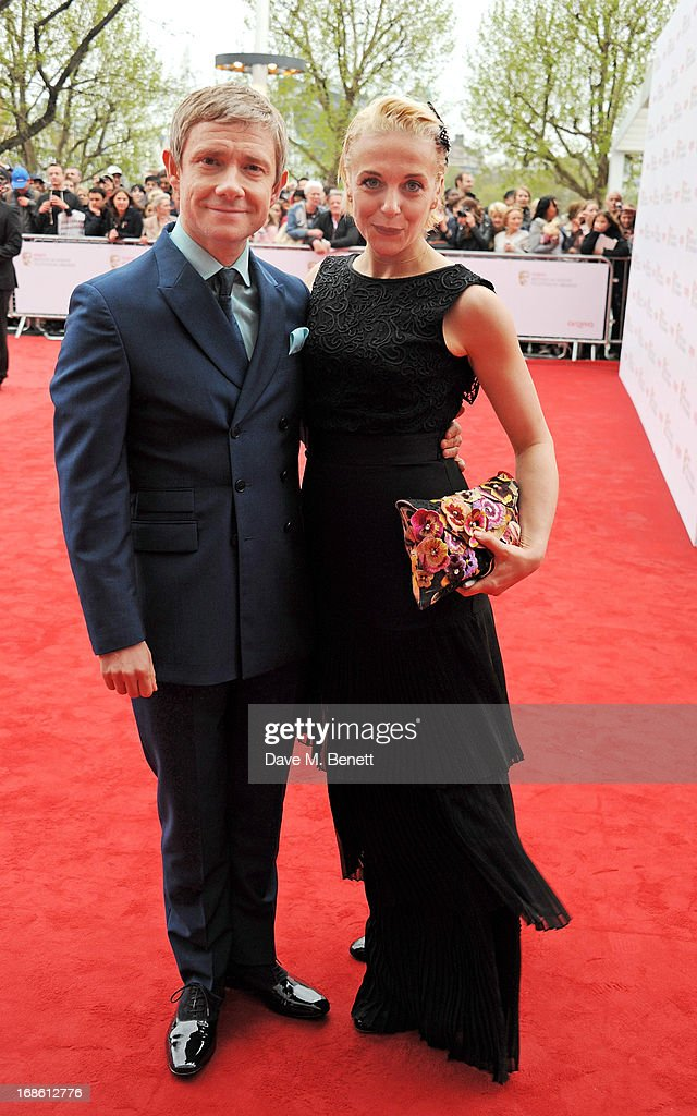 Martin Freeman (L) and Amanda Abbington attend the Arqiva British Academy Television Awards 2013 at the Royal Festival Hall on May 12, 2013 in London, England.