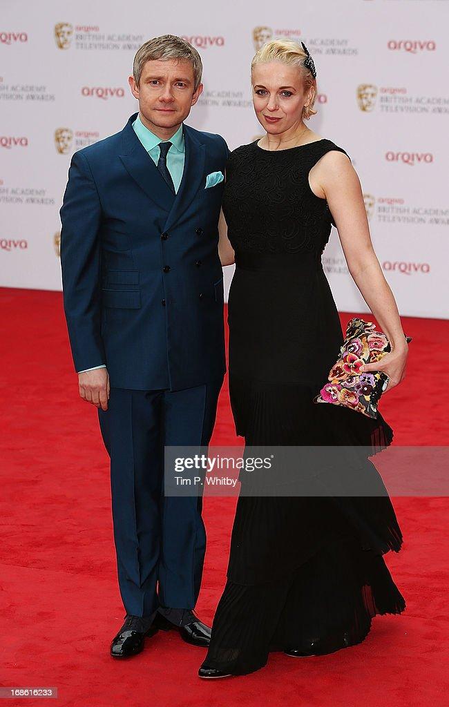 Martin Freeman and Amanda Abbington attend the Arqiva British Academy Television Awards 2013 at the Royal Festival Hall on May 12, 2013 in London, England.