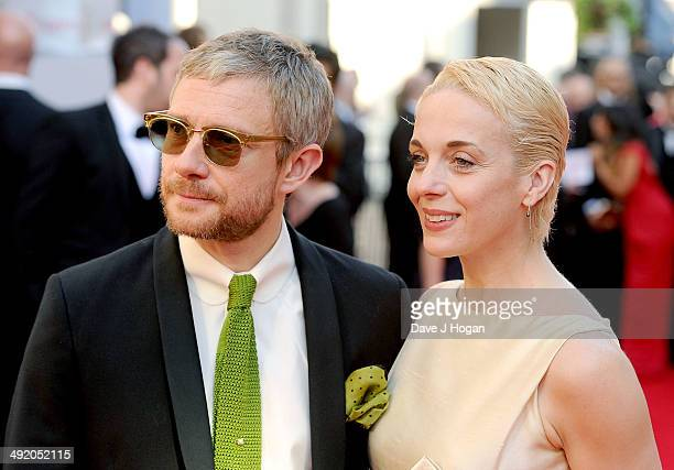 Martin Freeman and Amanda Abbington attend the Arqiva British Academy Television Awards at Theatre Royal on May 18 2014 in London England