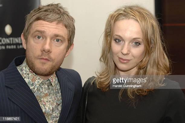 Martin Freeman and Amanda Abbington during InterContinental London Park Lane Relaunch Gala Inside Arrivals at InterContinental Hotel in London Great...