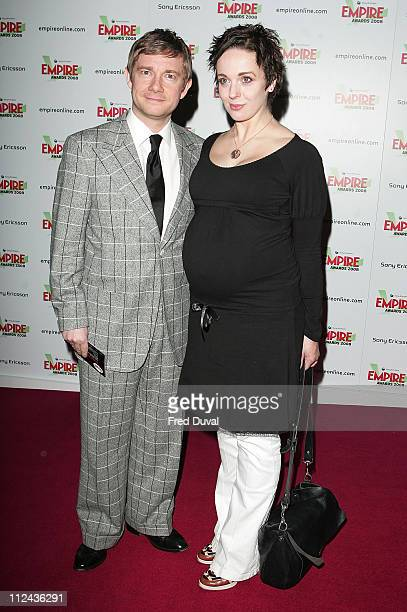 Martin Freeman and pregant partner attend the Sony Ericsson Empire Awards at the Grosvenor House Hotel on March 9 2008 in London England