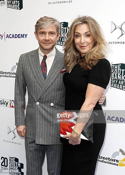 Martin Freeman and TracyAnn Oberman arrive for the The South Bank Sky Arts Awards at The Savoy Hotel on June 5 2016 in London England