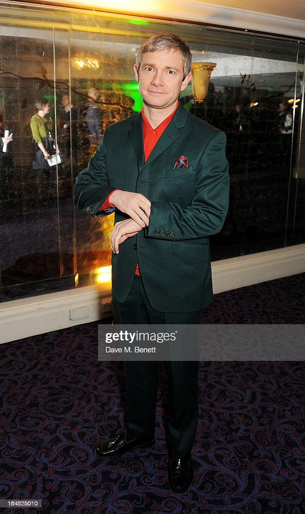 Martin Freeman arrives at the Jameson Empire Awards 2013 at The Grosvenor House Hotel on March 24, 2013 in London, England.