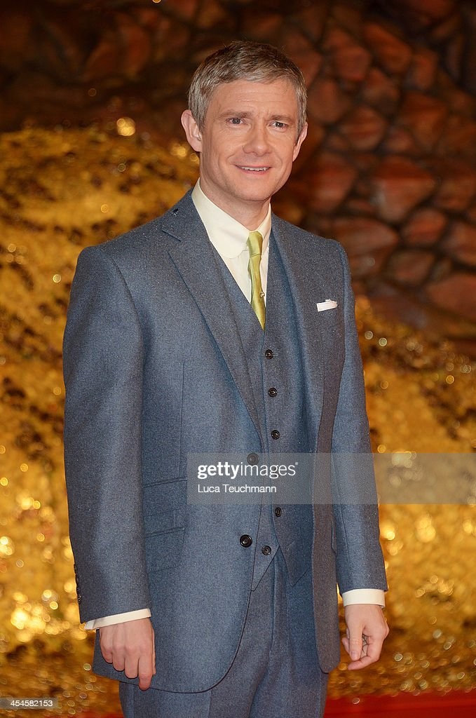 <a gi-track='captionPersonalityLinkClicked' href=/galleries/search?phrase=Martin+Freeman&family=editorial&specificpeople=214753 ng-click='$event.stopPropagation()'>Martin Freeman</a> attends the German premiere of the film 'The Hobbit: The Desolation Of Smaug' (Der Hobbit: Smaugs Einoede) at Sony Centre on December 9, 2013 in Berlin, Germany.