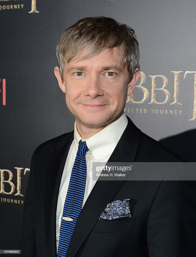 Martin Freeman attends 'The Hobbit: An Unexpected Journey' New York Premiere Benefiting AFI - Red Carpet And Introduction at Ziegfeld Theater on December 6, 2012 in New York City.