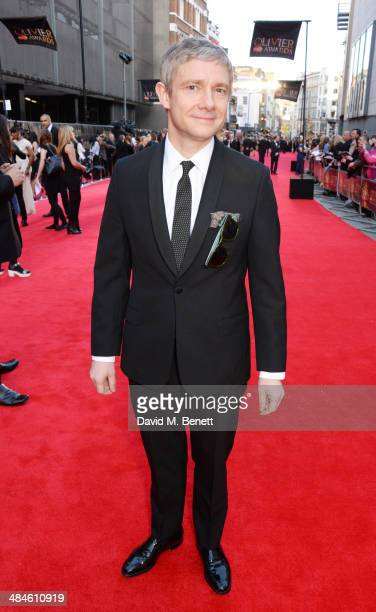 Martin Freeman attends the Laurence Olivier Awards at The Royal Opera House on April 13 2014 in London England