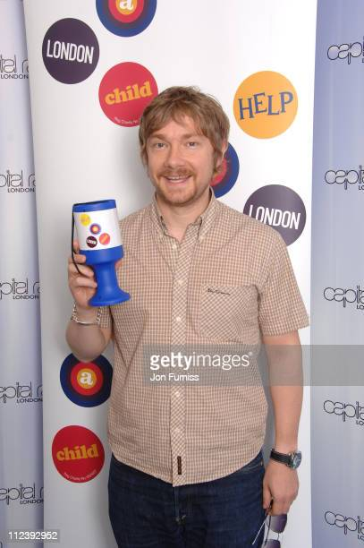 Martin Freeman during Capital's Help a London Child Weekend July 2123 2006 at Capital Radio in London Great Britain