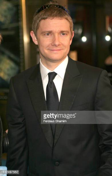 Martin Freeman during 'Hitchhiker's Guide to the Galaxy' London Premiere Outside Arrivals at Empire Leicester Square in London Great Britain