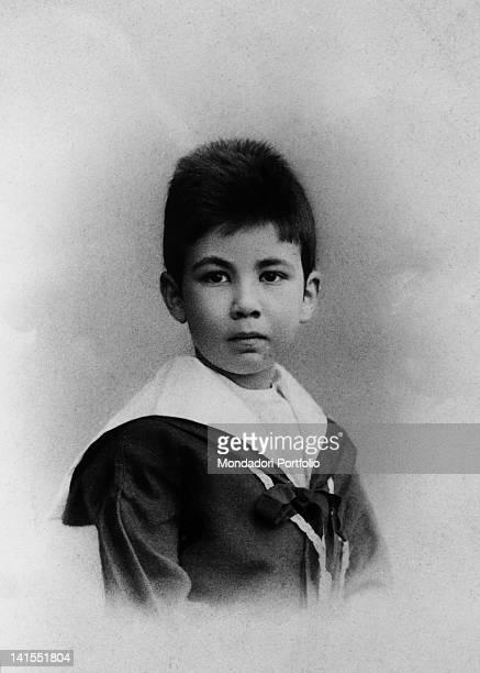 Martin Freud elder son of the founder of psychoanalysis Sigmund Freud dressing in sailor suit 1894