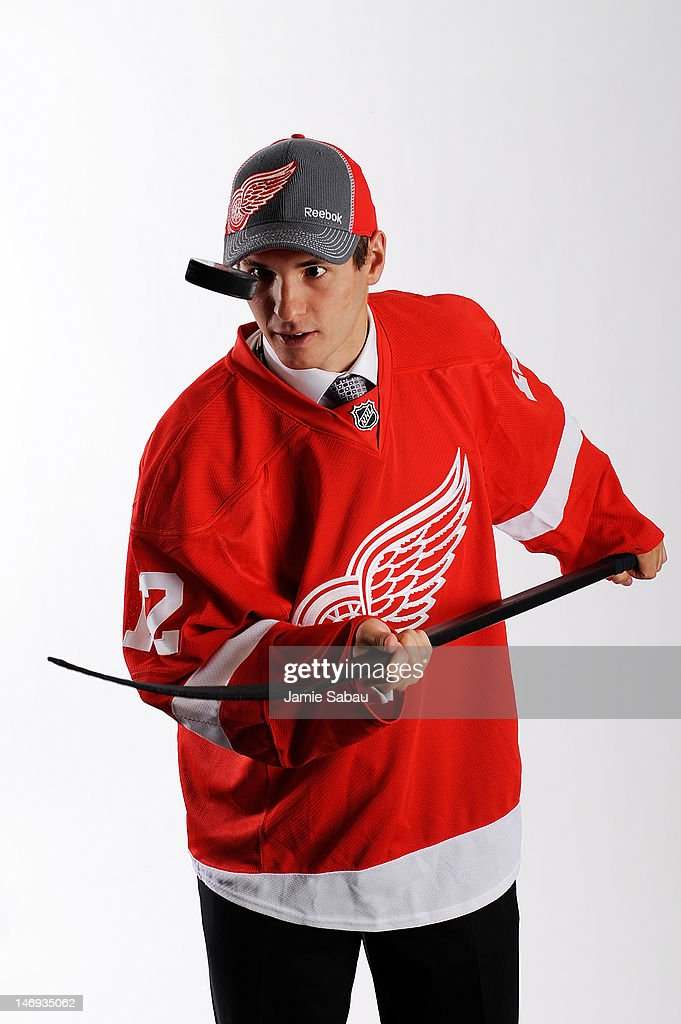 Martin Frk, 49th overall pick by the Detroit Red Wings, poses for a portrait during Day Two of the 2012 NHL Entry Draft at Consol Energy Center on June 23, 2012 in Pittsburgh, Pennsylvania.