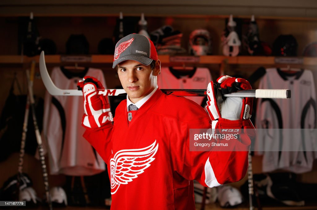 Martin Frk, 49th overall pick by the Detroit Red Wings, poses for a portrait during the 2012 NHL Entry Draft at Consol Energy Center on June 23, 2012 in Pittsburgh, Pennsylvania.
